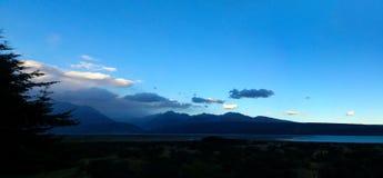 清楚的南部的天空, Mt厨师, NZ 免版税库存图片