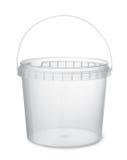 清楚的塑料食物桶 免版税图库摄影