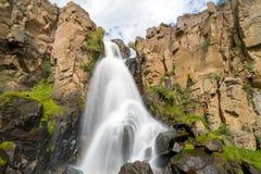 清楚的小河秋天,科罗拉多 免版税库存照片