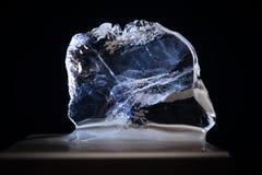 清楚的水晶冰 库存图片