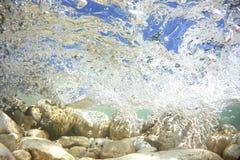 清楚的河水波浪 免版税图库摄影