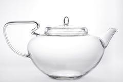 清楚的玻璃茶壶 免版税图库摄影