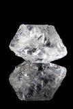 清楚的石英或无色水晶 免版税库存图片