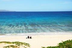 清楚的礁石水 免版税图库摄影