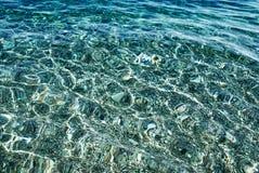 清楚的纯海运透明水 库存照片