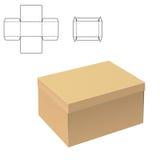 清楚的纸盒箱子 向量例证