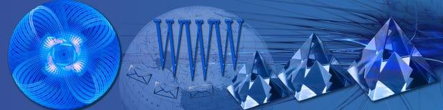 清楚的连接数水晶宽世界 免版税库存图片