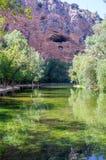 清楚的镜子湖的风景 库存图片