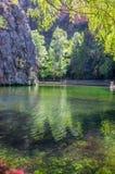 清楚的镜子湖的风景 免版税图库摄影