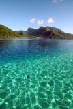 清楚的颜色水晶盐水湖二 图库摄影