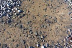 清楚的水和岩石在俄勒冈 库存照片
