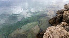 清楚的水在克罗地亚 免版税图库摄影