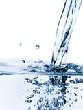 清楚的水晶流动的水 免版税库存图片