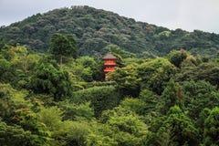 清水寺,正式地Otowa圣清水寺, Higashiyamaku,京都,神西,日本 库存照片