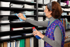 清洁女工 免版税图库摄影