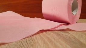 清洁家庭卫生学纸张产品洗手间 纸卷洗手间 纸桃红色洗手间 股票视频