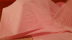 清洁家庭卫生学纸张产品洗手间 纸卷洗手间 纸桃红色洗手间 影视素材