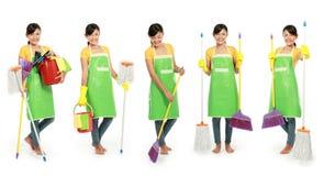 清洁工具妇女 库存照片