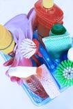 清洁工具箱 库存图片