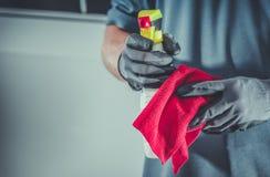 清洁布和洗涤剂 库存照片