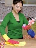 清洁房子主妇 免版税图库摄影
