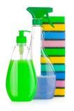 清洁房子用品 免版税库存图片