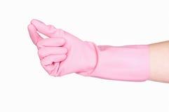 清洁手套查出的白色 免版税库存照片