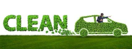 清洁燃料和eco友好的汽车的概念 库存图片