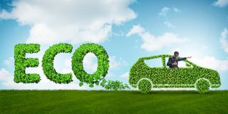 清洁燃料和eco友好的汽车的概念 库存照片