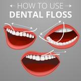 清洁牙齿概念背景,动画片样式 向量例证