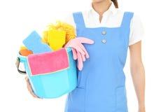 清洁物品妇女 库存图片