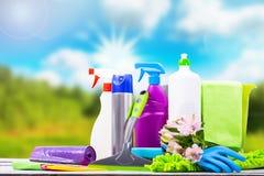 清洁物品的清洗的概念必要大扫除 库存图片