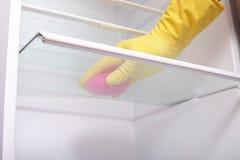 清洁现有量冰箱 库存图片