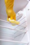 清洁现有量冰箱 免版税库存图片