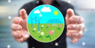 清洁能源的概念 库存照片