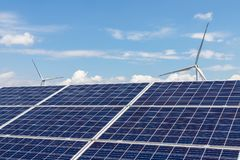清洁能源风景 免版税图库摄影