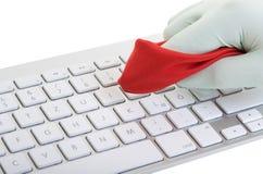 清洁计算机键盘 库存图片