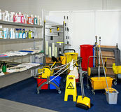 清洁设备 免版税库存图片