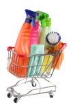 清洁购物用品 免版税库存照片