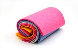 清洁项目纺织品 库存照片