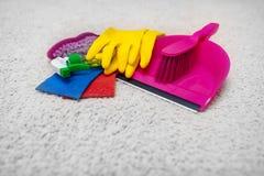 清洗和洗涤地毯 免版税库存照片