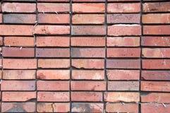 清洗对称整洁的橙色砖墙背景 免版税图库摄影