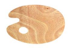 清洗木绘画的调色板 图库摄影