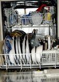 清洗洗碗机纵向 免版税库存照片