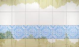 清洗瓦片墙壁卫生间背景 3d例证 皇族释放例证