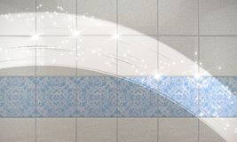 清洗瓦片墙壁卫生间背景 3d例证 向量例证