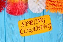 清洗的房子五颜六色的产品 免版税库存图片