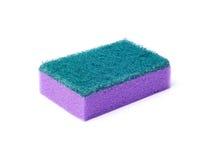 清洗的紫色海绵 库存照片