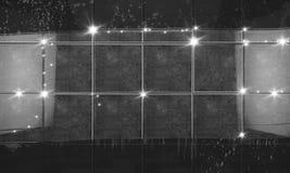 清洗黑瓦片墙壁卫生间背景 3d例证 皇族释放例证