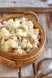清淡的自创土豆沙拉 库存图片